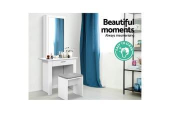 Artiss Dressing Table Mirror Stool Mirror Jewellery Cabinet Storage Desk