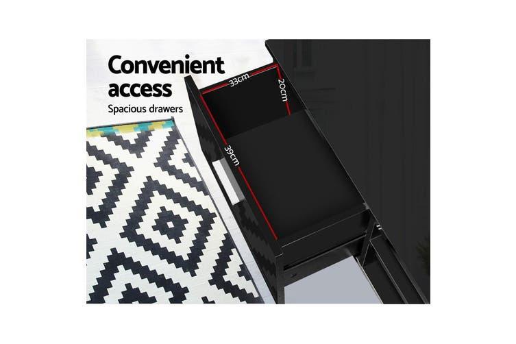 Artiss TV Cabinet Entertainment Unit Stand High Gloss Storage 140cm Black