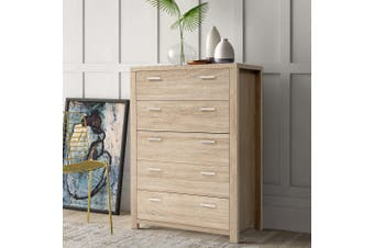 Artiss 5 Chest of Drawers Tallboy Dresser Table Bedroom Storage Cabinet