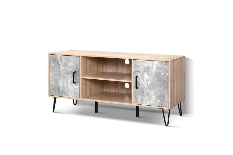 Artiss TV Cabinet Entertainment Unit Stand Industrial Wooden Metal Legs Oak