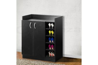 Artiss Shoe Cabinet Shoes Storage Rack 21 Pairs Organiser Shelf Cupboard Black
