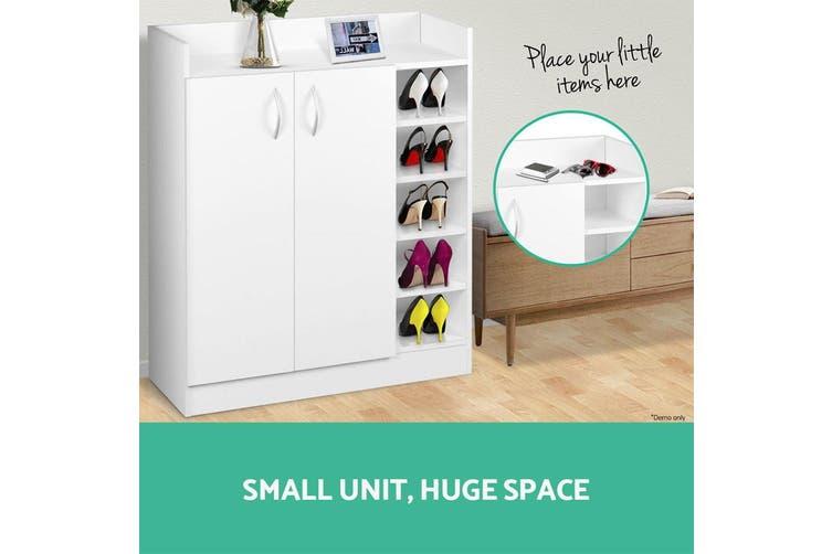 Artiss Shoe Cabinet Shoes Storage Rack 21 Pairs White Organiser Shelf Cupboard
