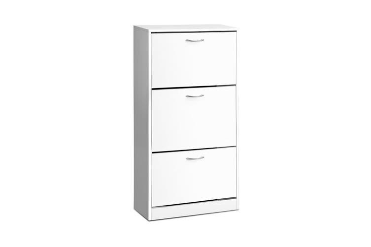 Artiss Shoe Cabinet Shoes Storage Rack Organiser 36 Pairs White Shelf Cupboard