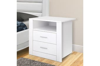 Artiss Bedside Tables Drawers Storage Cabinet Side Table Nightstand White Lamp