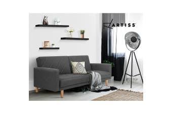 Artiss 3pcs Wall Floating Shelf Set DIY Mount Storage Book Display Rack Black