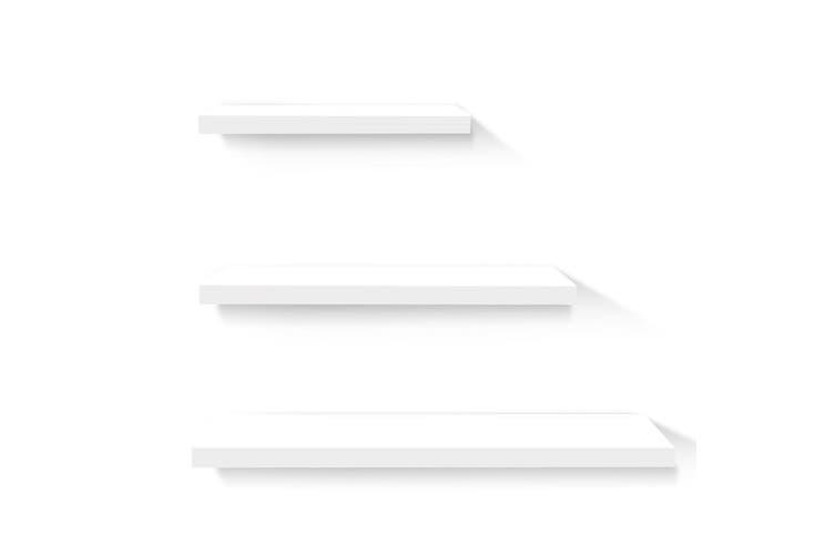 Artiss 3pcs Wall Floating Shelf Set DIY Mount Storage Book Display Rack White