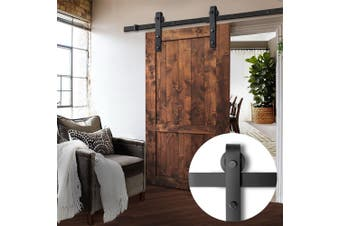 Greenfingers 2m Sliding Barn Door Hardware Track Set Home Office Bedroom Interior Closet