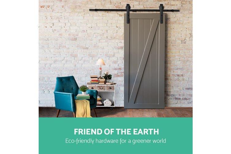 Greenfingers 3m Sliding Barn Door Hardware Track Set Home Office Bedroom Interior Closet