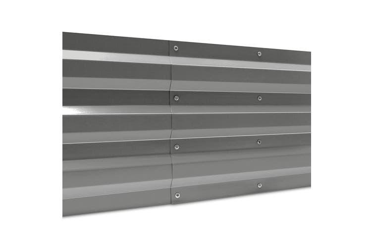 Greenfingers 150x90cm Galvanised Steel Raised Garden Bed Planter Aluminium Grey
