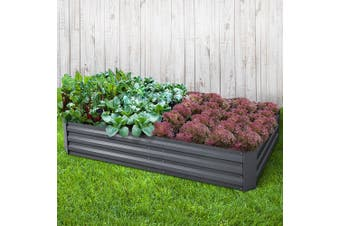 Greenfingers Galvanised Steel Raised Garden Bed Planter 210 x 90