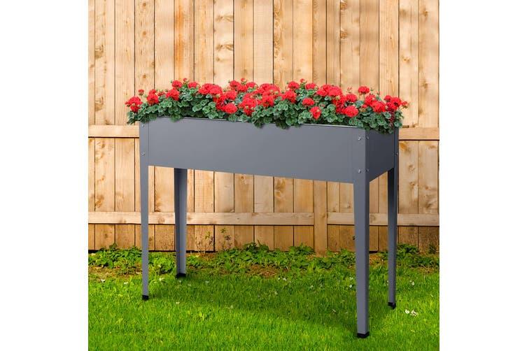Greenfingers Garden Bed 100X80X30CM Galvanised Steel Raised Planter Standing Box