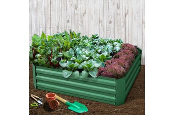 Greenfingers 2x Galvanised Steel Raised Garden Bed Planter 120 x 90cm