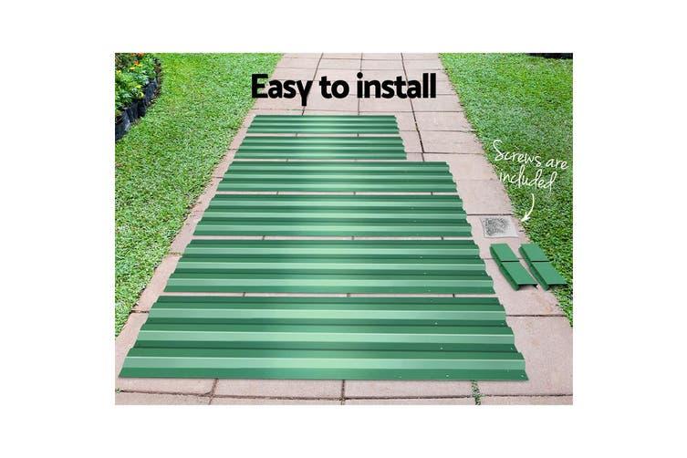 Greenfingers 2x Galvanised Steel Raised Garden Bed Planter 120 x 90cm