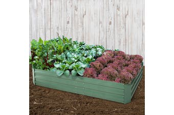 Greenfingers Garden Bed 2PCS 120X90X30CM Galvanised Steel Raised Planter Green