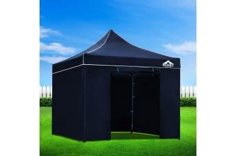 Instahut Aluminium Gazebo Pop Marquee Up 3x3m Outdoor Gazebos Wedding Tent Navy