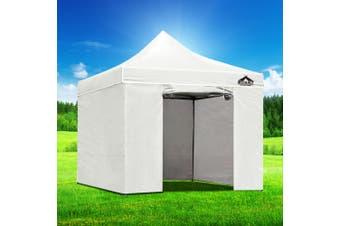 Instahut Gazebo Pop Up Marquee 3x3m Folding Wedding Tent Gazebos Shade White
