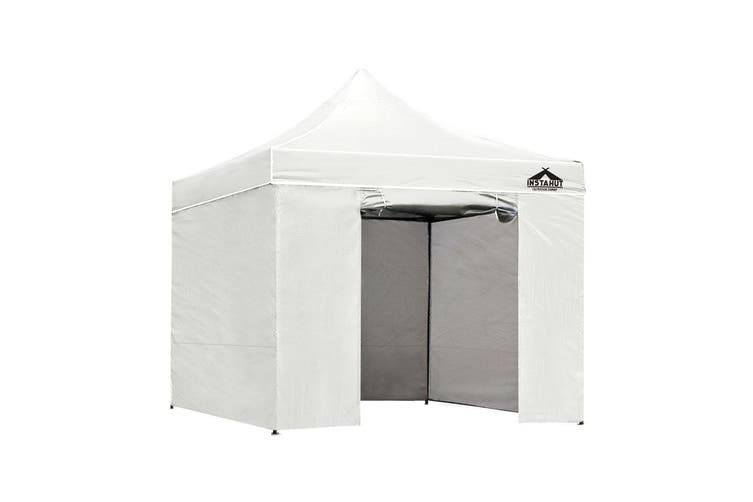 Instahut Gazebo Pop Up Marquee 3x3m Folding Wedding Tent Gazebos Shade White