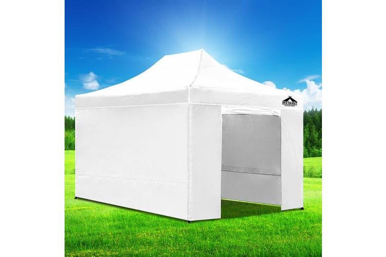 Instahut Gazebo Pop Up Marquee 3x4.5m Folding Wedding Tent Gazebos Shade White