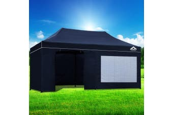 Instahut Gazebo Pop Up Marquee 3x6m Folding Wedding Tent Gazebos Shade Navy