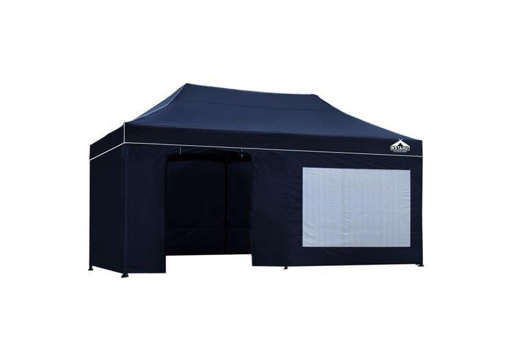 Instahut Gazebo Pop Up Marquee 3x6m Folding Wedding Tent Gazebos Shade Navy