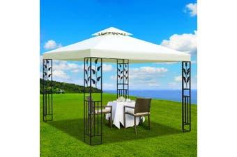 Instahut Gazebo 3x3m Marquee Outdoor Party Wedding Gazebos Tent Iron Art