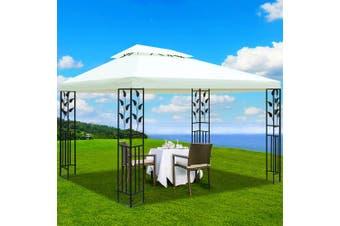 Instahut Gazebo 4x3m Marquee Outdoor Party Wedding Gazebos Tent Iron Art