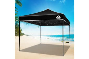 Instahut Gazebo 3x3m Pop Up Marquee Replacement Roof Outdoor Wedding Tent Black