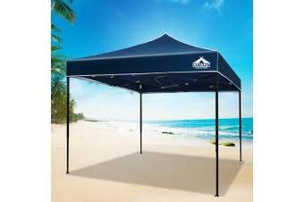 Instahut Gazebo 3x3m Pop Up Marquee Replacement Roof Outdoor Wedding Tent Navy