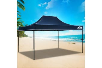 Instahut Gazebo 3x4.5m Pop Up Marquee Replacement Roof Outdoor Wedding Tent Navy
