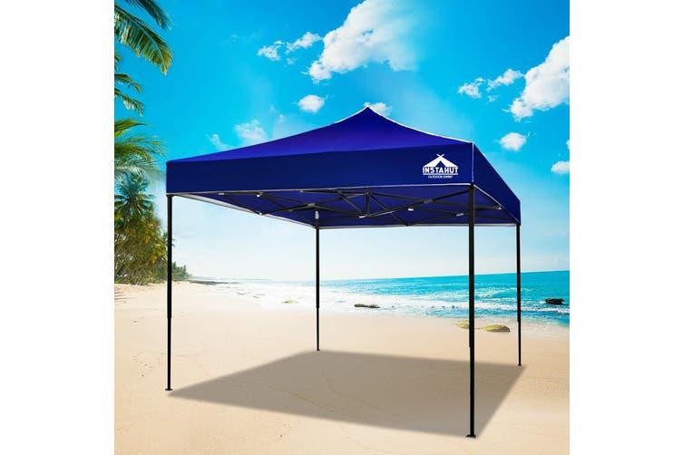 Instahut Gazebo Pop Up Marquee 3x3m Outdoor Tent Folding Wedding Gazebos Blue