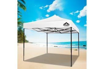 Instahut Gazebo Pop Up Marquee 3x3m Outdoor Tent Folding Wedding Gazebos White