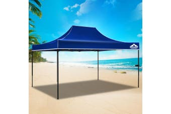 Instahut Gazebo Pop Up Marquee 3x4.5m Outdoor Tent Folding Wedding Gazebos Blue