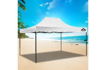 Instahut Gazebo Pop Up Marquee 3x4.5m Outdoor Tent Folding Wedding Gazebos White
