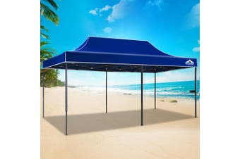 Instahut Gazebo Pop Up Marquee 3x6m Outdoor Tent Folding Wedding Gazebos Blue