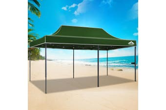 Instahut Gazebo Pop Up Marquee 3x6m Outdoor Tent Folding Wedding Gazebos Green