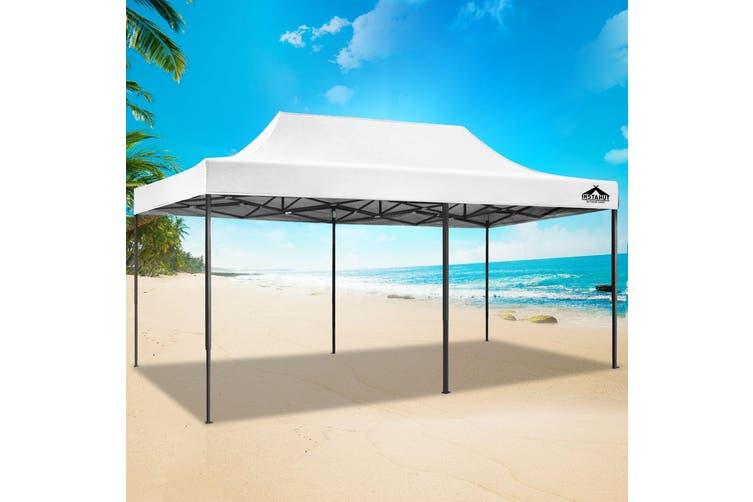 Instahut Gazebo Pop Up Marquee 3x6m Outdoor Tent Folding Wedding Gazebos White