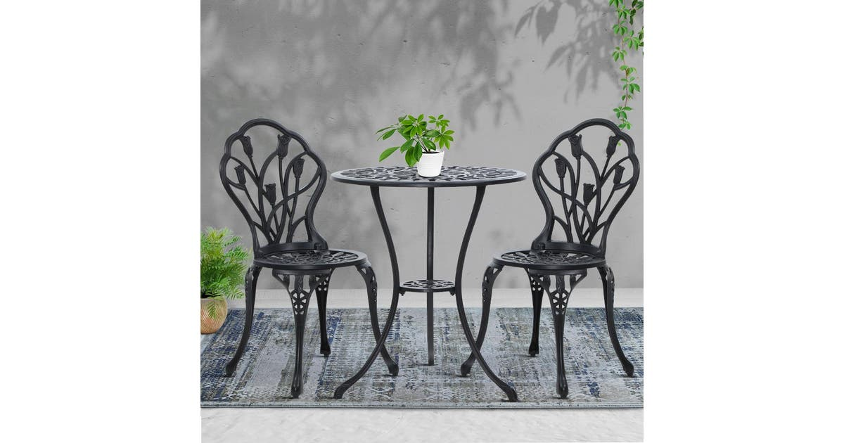 Outdoor Setting Chairs Table Bistro