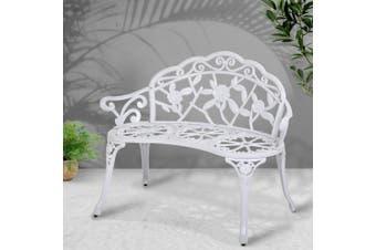 Gardeon Outdoor Garden Bench Seat Cast Aluminium Park Patio Lounge Chair
