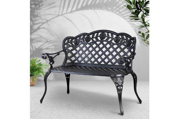 Gardeon Outdoor Bench Cast Aluminium, 3 Seater Cast Aluminium Garden Bench