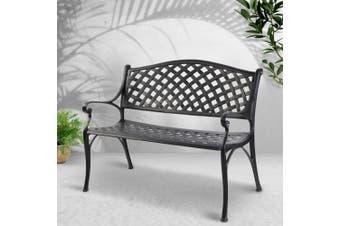 Gardeon Garden Bench Seat Patio Park Lounge Cast Aluminium Outdoor Furniture