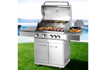 Outdoor Kitchen Gas BBQ Stainless Steel Grill Barbeque 5 Burner