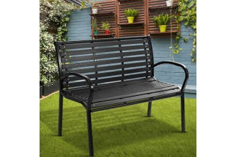 Gardeon Garden Bench Seat Outdoor Furniture Chair Steel Lounge Patio Park