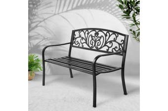 Gardeon Garden Bench Seat Steel Outdoor Patio Park Lounge Furniture Chair