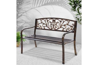 Gardeon Garden Bench Seat Steel Outdoor Patio Park Lounge Backyard Chair