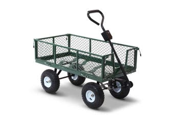 Gardeon 400kg Mesh Garden Cart Steel Removable Sides Trolley Wagon ATV Trailer