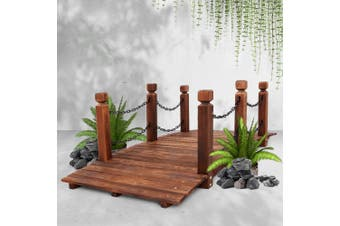 Gardeon Garden Rustic Chain Bridge Wooden Decoration Decor Landscape 160cm Length Rail