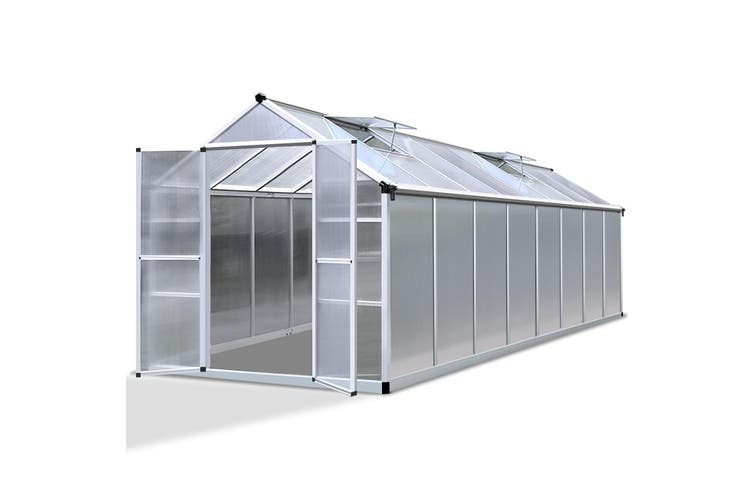Greenfingers Greenhouse Aluminium Green House Garden Shed Greenhouses 4.7x2.5M