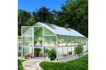 Greenfingers Greenhouse Aluminium Garden Shed Green House Greenhouses 4.82x2.5M