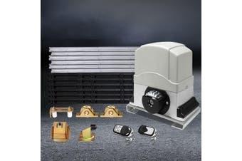 LockMaster Electric Sliding Gate Opener 1200KG Auto Remote Hardware Kit Rail 6M