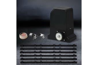 LockMaster Automatic Electric Sliding Gate Opener 1000KG Keypad Remote Rail Hardware Kit 6M